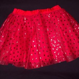 Girl's Toddler Red Heart Sparkle Tutu by Crazy 8